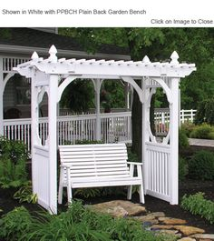 Outdoor Poly Furniture: Luxury Poly CVSWS Vinyl Arbor Style Swing Stand |  OutdoorPolyFurniture.