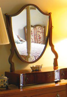 A George III Mahogany Dressing Mirror Circa 1785