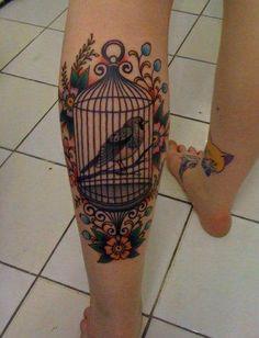 Bird cage tattoo - Tattoos and Tattoo Designs