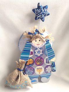Judaica Chanukah FAIRY Jewish art Holiday figurine by PoZiDesigns