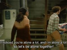let's be alone together :) that 70's show,jackie and hyde,gif