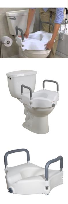 toilet seats raised toilet seat lift 5in height riser bath safety handicap w removable arms