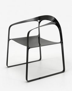Innovative Contemporary Carbon Fibre Version Plooop Chair by Timothy Schreiber