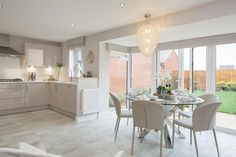 Gateford Park, Worksop: New homes in Gateford, Open Kitchen And Living Room, Open Plan Kitchen Diner, New Kitchen, Dining Room, Kitchen Interior, Kitchen Decor, Kitchen Design, Kitchen Ideas, Barratt Homes Interiors