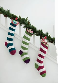 Christmas stockings for the family.