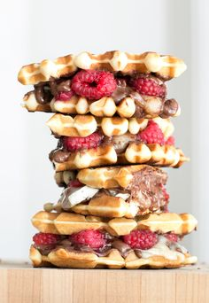 Raspberry Nutella Brie Waffle Sandwiches | 15 Mouthwatering Ways To Eat More…
