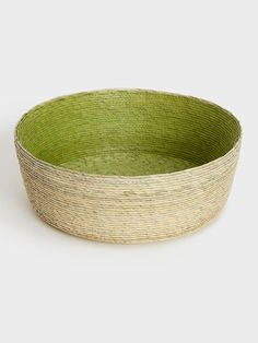 Green Palm Leaf Basket by Makaua   DARA Artisans