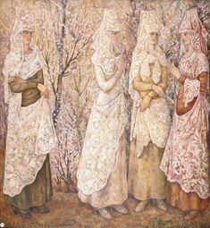Наталья Гончарова - Весна. Белые испанки. 1922