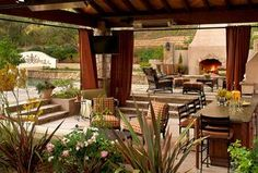 """""""View this Great Traditional Patio with exterior stone floors & Raised beds by Tony Leocadio. Discover & browse thousands of other home design ideas on Zillow Digs."""""""