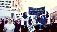 While the average French Muslim woman wearing the headscarf would have to hand in at least 100 resumes before receiving a reply.   These Swedish Muslim women have had enough ❗ ❗ ❗  Read about the peaceful march protesting against #Muslimwomenban