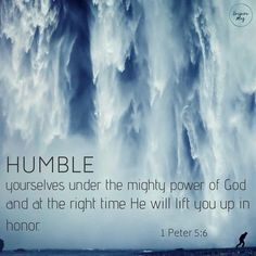 """""""Whoever makes himself great will be humbled, and whoever humbles himself will be made great."""" Matthew 23:12  His power works best…"""