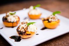 grilled peaches ricotta & balsamic