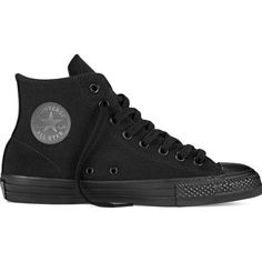 Converse CONS CTAS Pro – black Sneakers ($70) ❤ liked on Polyvore featuring shoes, sneakers, converse, black, star caps, black high tops, black trainers, hi tops and lightweight sneakers