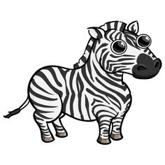 funny zebra drawing | zebra4