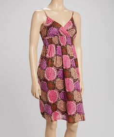 Lazy Daisy Purple & Brown Mum Dress by Lazy Daisy #zulily #zulilyfinds