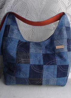 Джинсовая сумка ручная работа