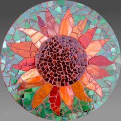 Garden stepping stone mosaic
