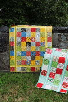 PDF Quilt Pattern.....Charm square, Layer Cake or Fat Quarter friendly, ..Table runner, baby and lap size, Simple Stitches. $9.00, via Etsy.
