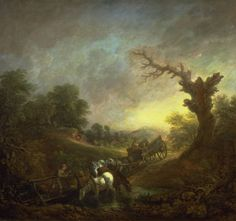 Sunset, Carthorses Drinking at a Stream (c. 1760)