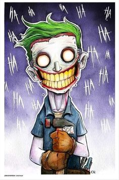 Joker by Christopher Uminga. This awesome piece may be purchased at: www.metropoliscomicart.com:
