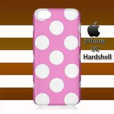 Pink White Polka Dots iPhone 5c Case Cover Hardshell