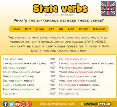 Learning English - State Verbs