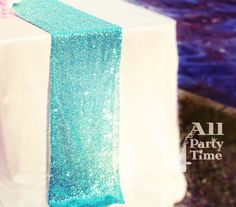 Mint Green Turquoise Sequin Table Runner and more by All4partytime, $35.95