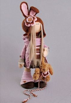 Rabbit doll Tilda doll Interior doll Art doll by AnnKirillartPlace