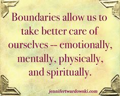 Having and setting boundaries is so important in self care. You will find out who respects you by who respects the boundaries you set for yourself. #backinmotion.us