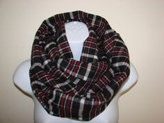 black red grey plaid infinity scarf Cowl by OtiliaBoutique on Etsy Plaid Infinity Scarf, Red And Grey, Black, Womens Scarves, Cowl, Flannel, Fall Winter, Unisex, Trending Outfits