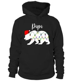 Mens Papa Bear Hoodie Shirts Christmas Matching Santa Hat Light Shirt Christmas Games, Merry Christmas, Carol Songs, Bear Hoodie, Party Background, Gingerbread Houses, Holiday Traditions, Santa Hat, Outfits For Teens