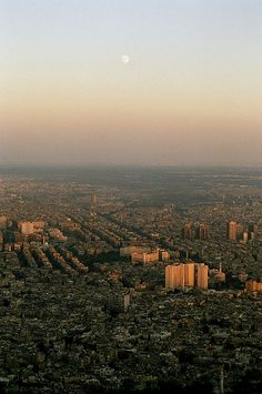 View of Damascus from Mount Qasioun_ Syria Syria Tourism, Syria Pictures, Syria Before And After, Save Syria, Naher Osten, Cradle Of Civilization, Syrian Refugees, World Cities, Travel Memories