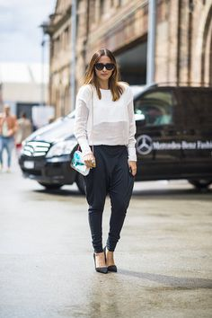 We're digging this black and white look. #streetstyle