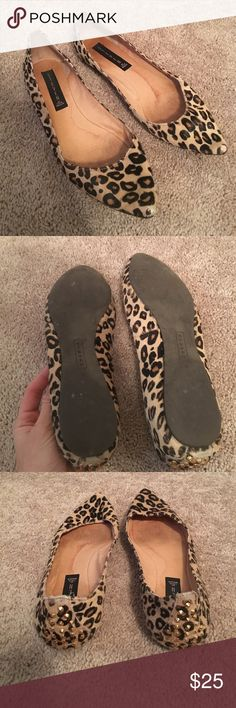 Steven Leopard flats! Size 8 Worn condition but still cute and great with skinny jeans! Steven by Steve Madden Shoes Flats & Loafers
