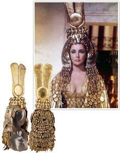 Elizabeth Taylor's golden gown as Cleopatra.