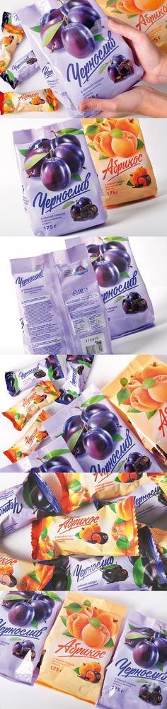 Разработали дизайн упаковки новых фруктово-желейных конфет для группы компаний «ГУД-ФУД».