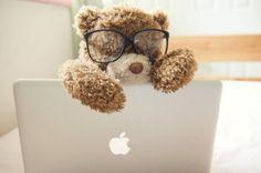Teddy Bear with Mac My Teddy Bear, Cute Teddy Bears, Teddy Bear Pictures, Bear Pics, Love Bear, Tatty Teddy, Popular Hairstyles, Girly Things, Nice Things