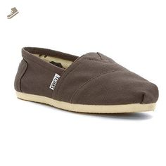 Toms Women's 001001b07-grey Canvas Alpargata Flat, Ash, 9 M US - Toms flats for women (*Amazon Partner-Link)