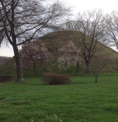 Springtime at the Grave Creek Mound in Moundsville, WV. Photo by Barb at Country Lane Crafts & Antiques.