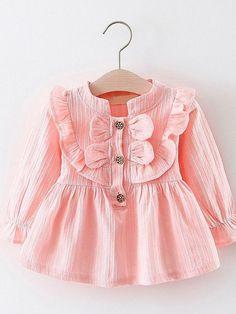 Esmae Long Sleeve Dress dress esmae sleeve new - cakerecipespins. Baby Girl Fashion, Toddler Fashion, Toddler Outfits, Kids Outfits, Kids Fashion, Spring Fashion, Fashion 2016, Winter Outfits, Baby Dress Design