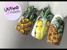 Дизайн ногтей - ананас Nail art - YouTube