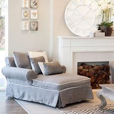 Who feels like a little lie down already? The contemporary design of the Vermont Chaise Lounge compliments classic and modern interiors, add our amazing clock ($349) + a fireplace and we might just stay all day