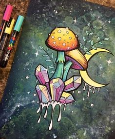 Hippie Drawing, Hippie Painting, Trippy Painting, Hippie Art, Painting & Drawing, Trippy Drawings, Psychedelic Drawings, Cool Art Drawings, Art Drawings Sketches