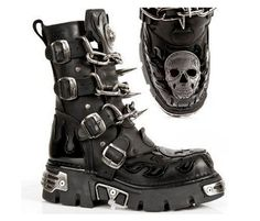 Gothic Biker Boots - Available at www.gothicbootshop.com