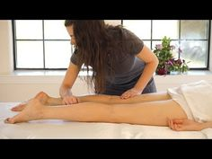 ▶ ASMR Leg & Feet Massage; Swedish Massage Therapy Techniques For Back Rubs; Full Body Massage Part 6 - YouTube