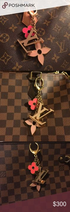 LV flower charm Pre loved no damage only normal visual signs of wear, hang on all your LV bags authentic with proof of purchase. Louis Vuitton Bags