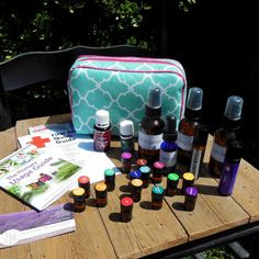 Natural Essential Oil First Aid or Travel Bag Aqua by OurHHH