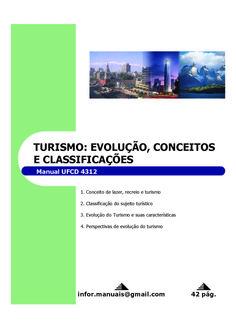 4312. Turismo evolução, conceitos e classificações