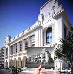 Before and after of the Palais de la Méditerranée (Hyatt Regency) in Nice. #hotel #casino #luxury #history #Nice06 #FrenchRiviera #CotedAzur #France by experiencethefrenchriviera at http://ift.tt/1Pz2WxG