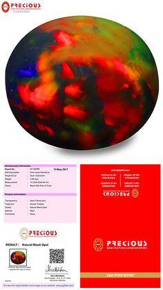Black Opals 181110: 2.89 Ct Pgtl Certified Oval Cabochon (10 X 9 Mm) Flashing Multicolor Black Opal -> BUY IT NOW ONLY: $89.99 on eBay!